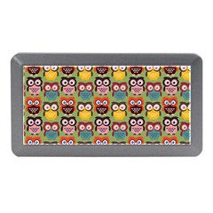 Eye Owl Colorful Cute Animals Bird Copy Memory Card Reader (mini) by AnjaniArt