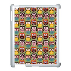 Eye Owl Colorful Cute Animals Bird Copy Apple Ipad 3/4 Case (white) by AnjaniArt