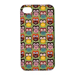 Eye Owl Colorful Cute Animals Bird Copy Apple Iphone 4/4s Hardshell Case With Stand