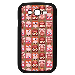 Eye Owl Colorfull Pink Orange Brown Copy Samsung Galaxy Grand Duos I9082 Case (black)