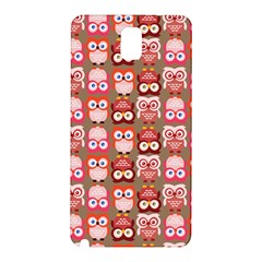 Eye Owl Colorfull Pink Orange Brown Copy Samsung Galaxy Note 3 N9005 Hardshell Back Case by AnjaniArt