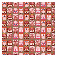 Eye Owl Colorfull Pink Orange Brown Copy Large Satin Scarf (square)