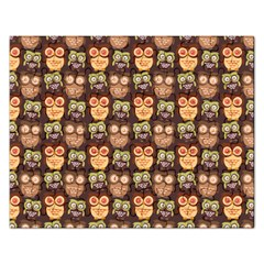 Eye Owl Line Brown Copy Rectangular Jigsaw Puzzl by AnjaniArt