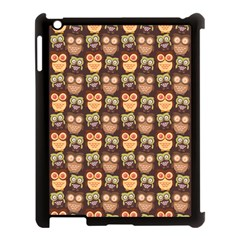 Eye Owl Line Brown Copy Apple Ipad 3/4 Case (black)
