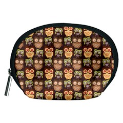 Eye Owl Line Brown Copy Accessory Pouches (medium)