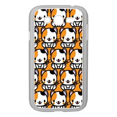Face Cat Yellow Cute Samsung Galaxy Grand Duos I9082 Case (white)