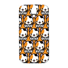 Face Cat Yellow Cute Samsung Galaxy S4 I9500/i9505  Hardshell Back Case by AnjaniArt