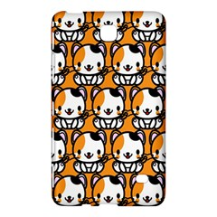 Face Cat Yellow Cute Samsung Galaxy Tab 4 (8 ) Hardshell Case  by AnjaniArt