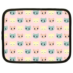 Face Cute Cat Netbook Case (large)