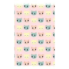 Face Cute Cat Shower Curtain 48  X 72  (small)