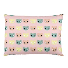 Face Cute Cat Pillow Case (two Sides) by AnjaniArt