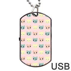 Face Cute Cat Dog Tag Usb Flash (one Side) by AnjaniArt