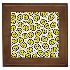 Face Smile Yellow Copy Framed Tiles