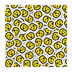 Face Smile Yellow Copy Medium Glasses Cloth (2 Side)