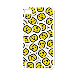 Face Smile Yellow Copy Apple Iphone 4 Case (white)
