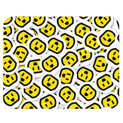 Face Smile Yellow Copy Double Sided Flano Blanket (medium)