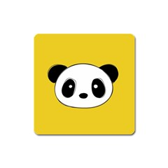Face Panda Cute Square Magnet by AnjaniArt