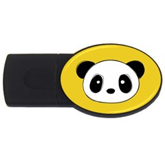 Face Panda Cute Usb Flash Drive Oval (4 Gb)  by AnjaniArt