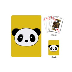 Face Panda Cute Playing Cards (mini)  by AnjaniArt