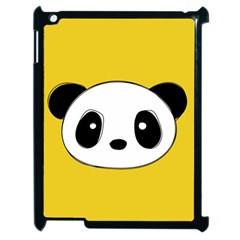 Face Panda Cute Apple Ipad 2 Case (black) by AnjaniArt