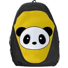 Face Panda Cute Backpack Bag by AnjaniArt