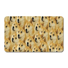 Face Cute Dog Magnet (rectangular) by AnjaniArt