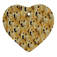 Face Cute Dog Heart Ornament (2 Sides)
