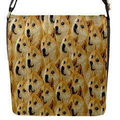 Face Cute Dog Flap Messenger Bag (s) by AnjaniArt