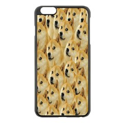 Face Cute Dog Apple Iphone 6 Plus/6s Plus Black Enamel Case