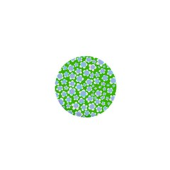 Flower Green Copy 1  Mini Magnets by AnjaniArt