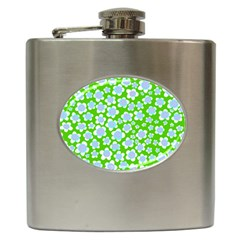 Flower Green Copy Hip Flask (6 Oz)