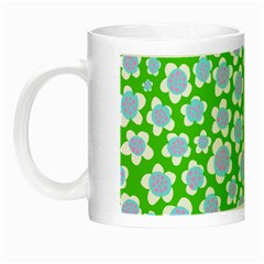Flower Green Copy Night Luminous Mugs by AnjaniArt