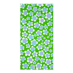 Flower Green Copy Shower Curtain 36  X 72  (stall)  by AnjaniArt
