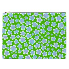 Flower Green Copy Cosmetic Bag (xxl)  by AnjaniArt