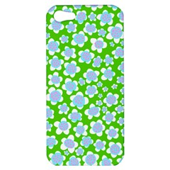 Flower Green Copy Apple Iphone 5 Hardshell Case by AnjaniArt