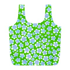 Flower Green Copy Full Print Recycle Bags (l)  by AnjaniArt