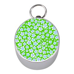 Flower Green Copy Mini Silver Compasses by AnjaniArt