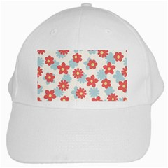 Flower Pink White Cap