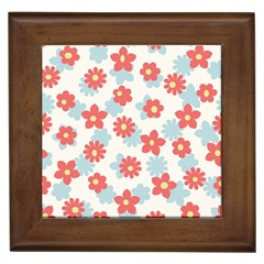 Flower Pink Framed Tiles