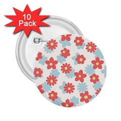 Flower Pink 2 25  Buttons (10 Pack)  by AnjaniArt