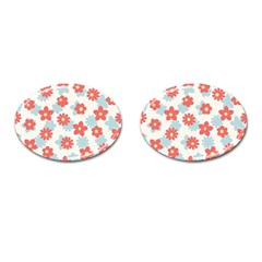Flower Pink Cufflinks (oval)