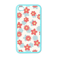 Flower Pink Apple Iphone 4 Case (color)