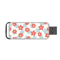Flower Pink Portable Usb Flash (one Side) by AnjaniArt
