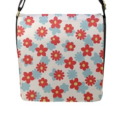 Flower Pink Flap Messenger Bag (l)