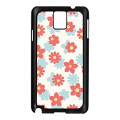 Flower Pink Samsung Galaxy Note 3 N9005 Case (black) by AnjaniArt