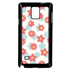 Flower Pink Samsung Galaxy Note 4 Case (black) by AnjaniArt
