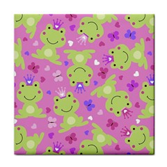 Frog Princes Tile Coasters by AnjaniArt