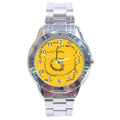 Yellow Soles Of The Feet Stainless Steel Analogue Watch by AnjaniArt