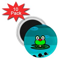 Frog Tadpole Green 1 75  Magnets (10 Pack)  by AnjaniArt