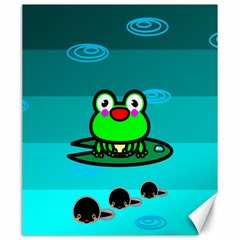 Frog Tadpole Green Canvas 20  X 24   by AnjaniArt